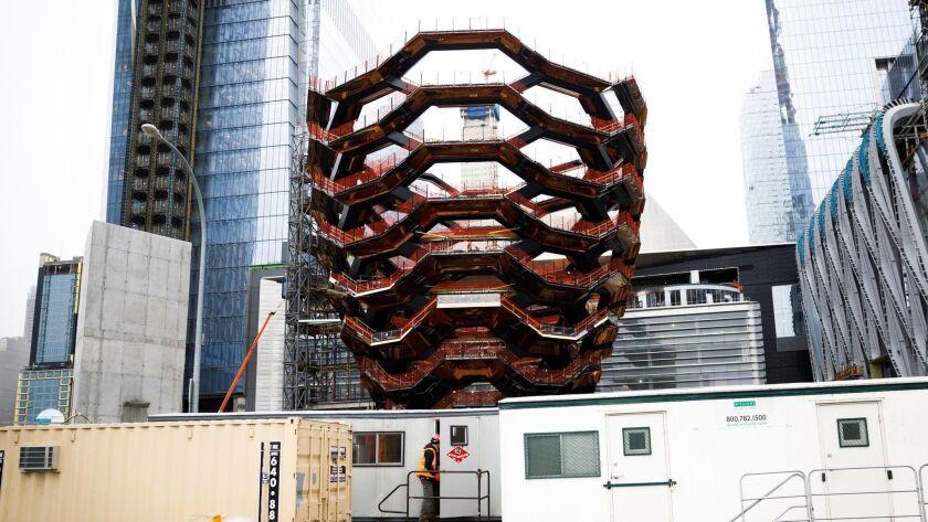 Thomas Heatherwick's Vessel at Hudson Yards in New York, USA - 22 Feb 2018