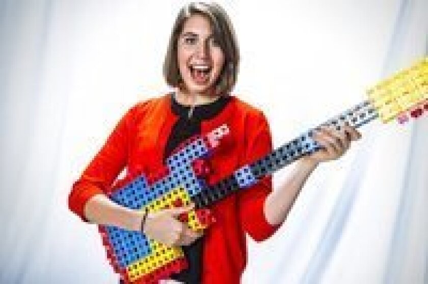 Rokenbok's Caitlin Bigelow rocks out at the YouTube Ambassadors event.