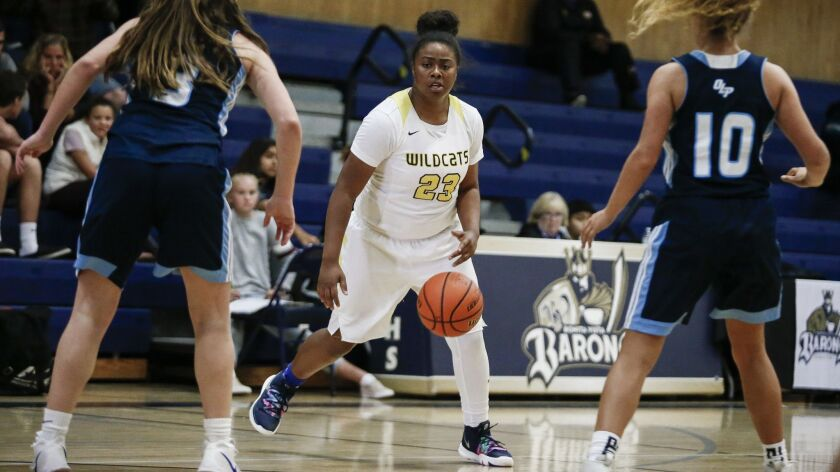 El Camino senior point guard Ariel Smallwood (23) leads the Wildcats with averages of 14.6 points and 5.9 rebounds per game.