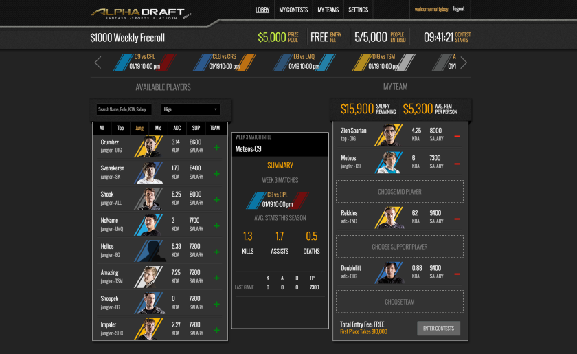 At Alphadraft Pro Video Game Players Become Stars Of Fantasy Sports Los Angeles Times