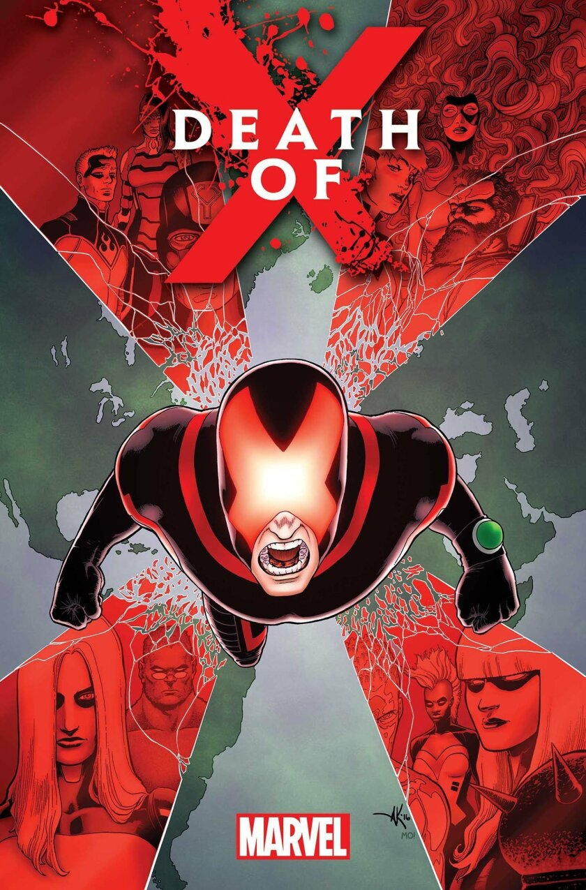 DEATH OF X #1, Written by JEFF LEMIRE & CHARLES SOULE (Courtesy of Marvel Comics).