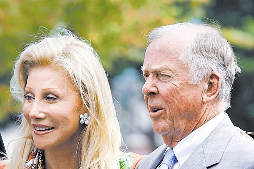 Part-time Del Mar resident Madeleine Pickens, with billionaire husband T. Boone Pickens.