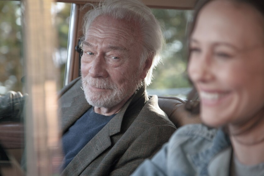 """Christopher Plummer stars as father to Laura, played by Vera Farmiga, in """"Boundaries."""""""