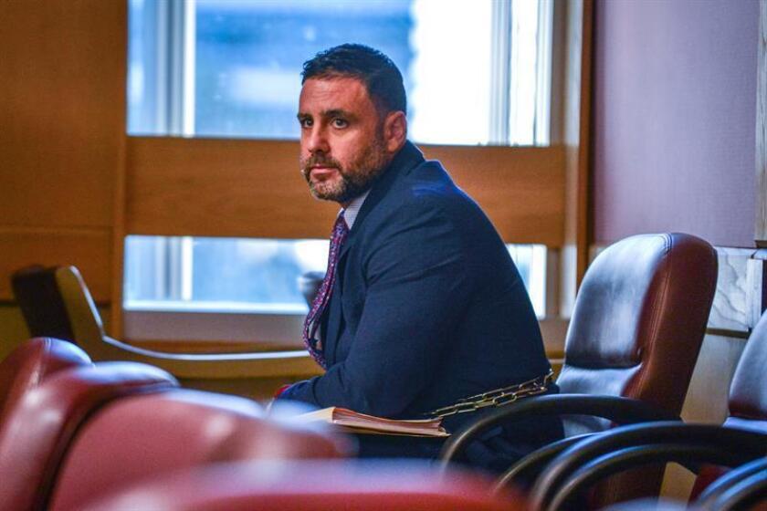 El hispano-estadounidense Pablo Ibar asiste a la fase oral del cuarto juicio al que es sometido, en el tribunal del condado Broward, en Fort lauderdale, Florida (EE.UU.). EFE/Archivo