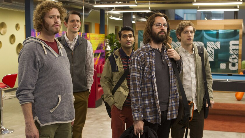"Fact of fiction: The cast of the HBO comedy ""Silicon Valley,"" on which Dan Lyons has been a writer"