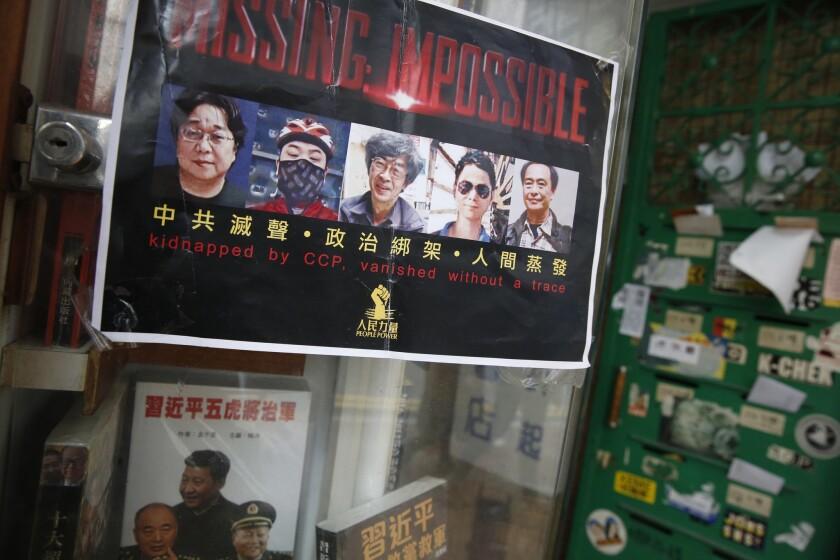 Missing Hong Kong booksellers
