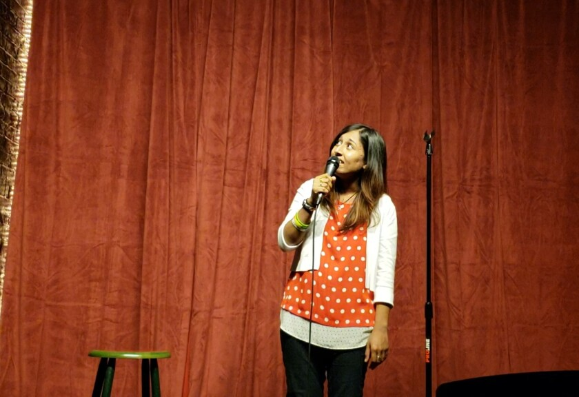 Comic Zara Khan hosted a comedy livestream on Zoom and Facebook Live, as bars and clubs closed down across the country last week.