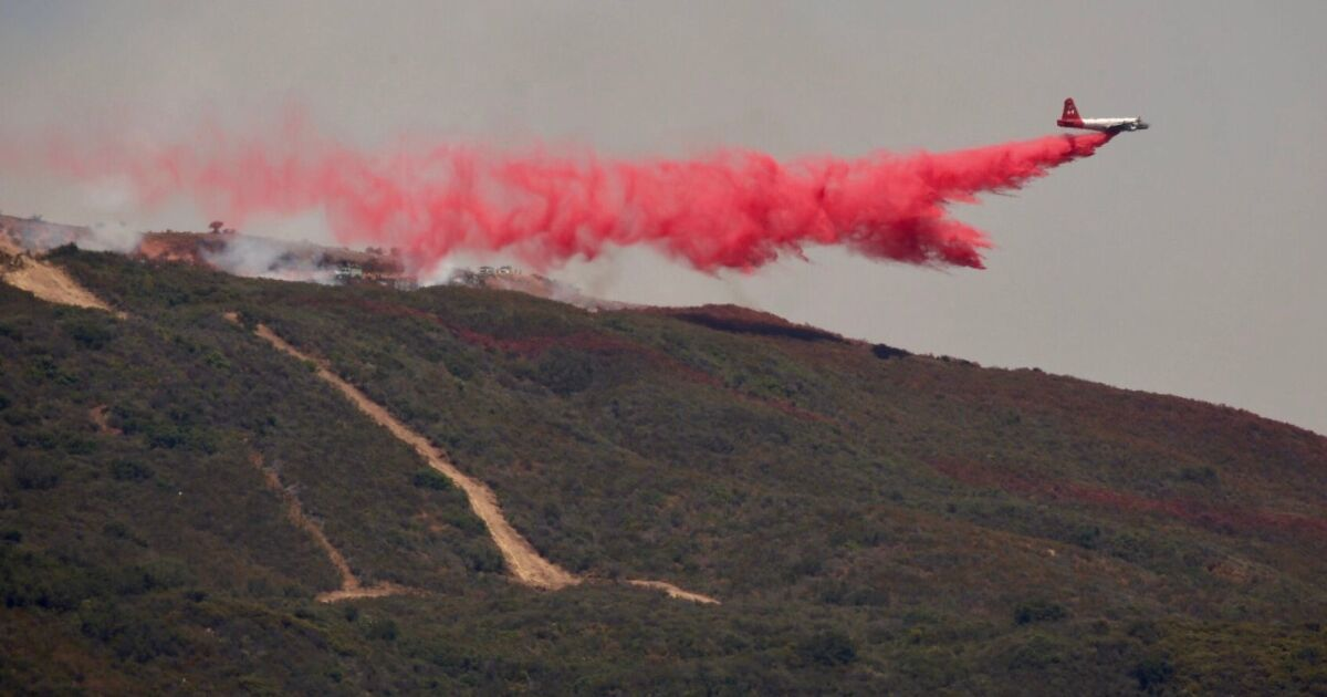 The fire retardant dropped out of planes? It's sticky, gooey and made in the Southland