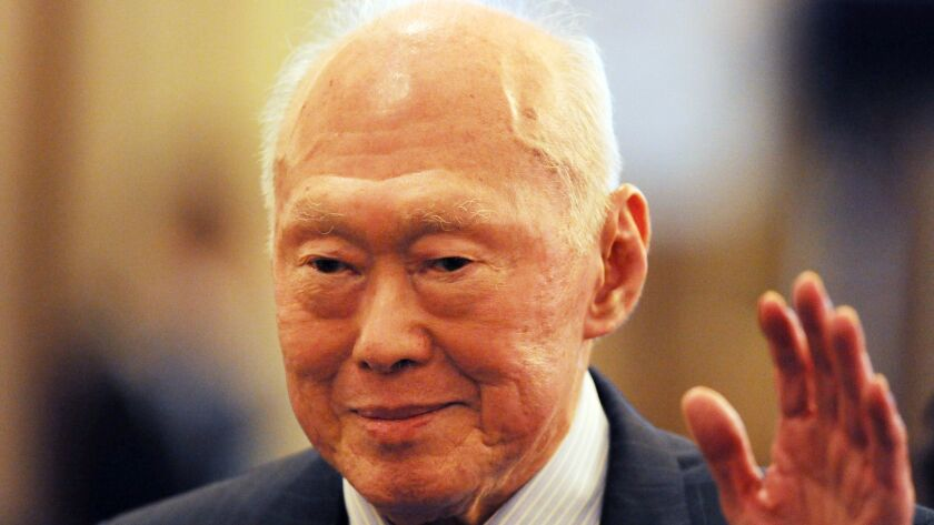 Former Singapore Prime Minister Lee Kuan Yew in 2011.