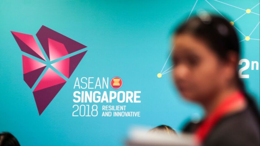 32nd ASEAN Summit and Related Meetings in Singapore - 24 Apr 2018