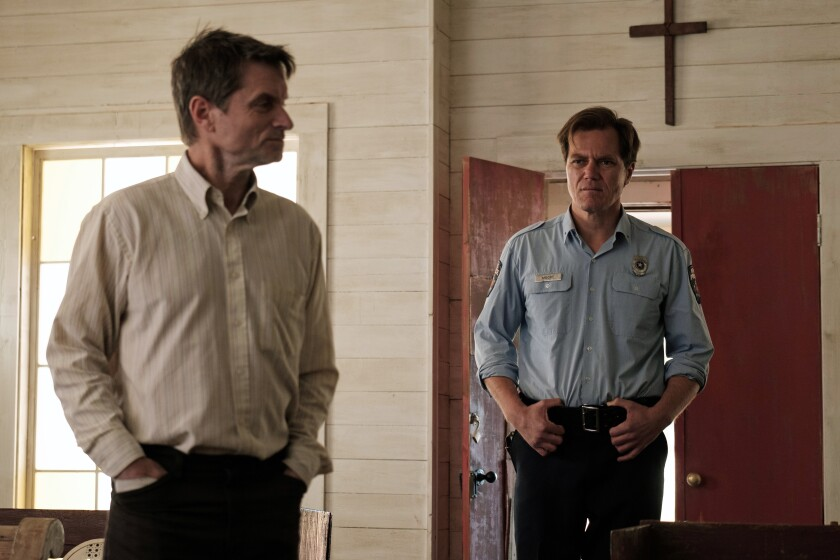 Shea Whigham and Michael Shannon in the movie 'The Quarry'