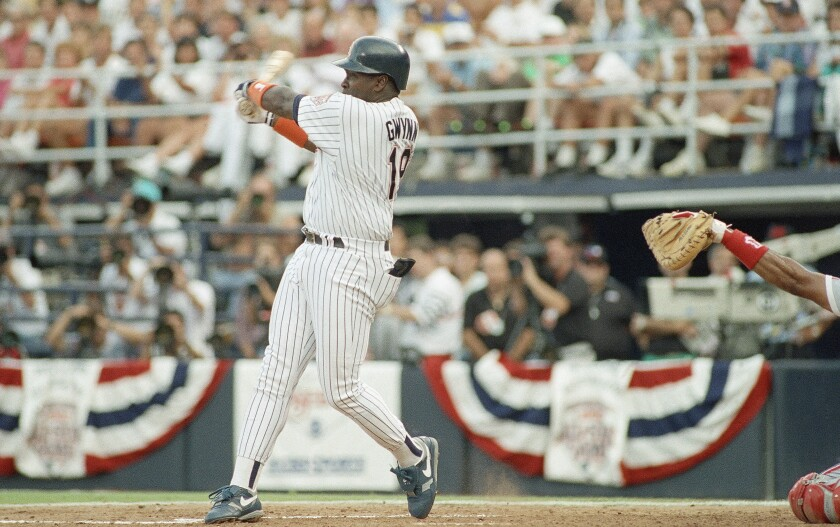 Tony Gwynn was one of three Padres to start All-Star Game on July 14, 1992 in San Diego.