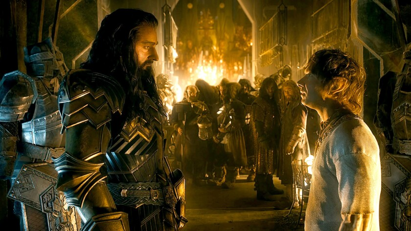 """Richard Armitage as Thorin and Martin Freeman as Bilbo in the fantasy adventure """"The Hobbit: The Battle of the Five Armies."""""""