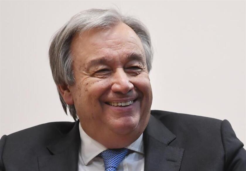 El secretario general de Naciones Unidas, Antonio Guterres. EFE/ARCHIVO
