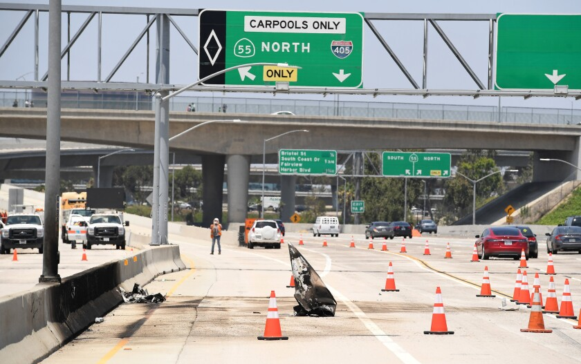 55 Freeway Accident Report Today