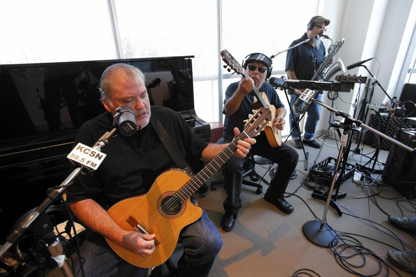KCSN, the radio station of Cal State Northridge, launched its new 24/7 format of modern Latin/Latino music with a live in-studio broadcast by Los Lobos.