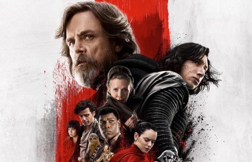 """Este es uno de los afiches promocionales de """"The Last Jedi"""", que tiene asegurada la conquista de la taquilla durante el presente fin de semana."""