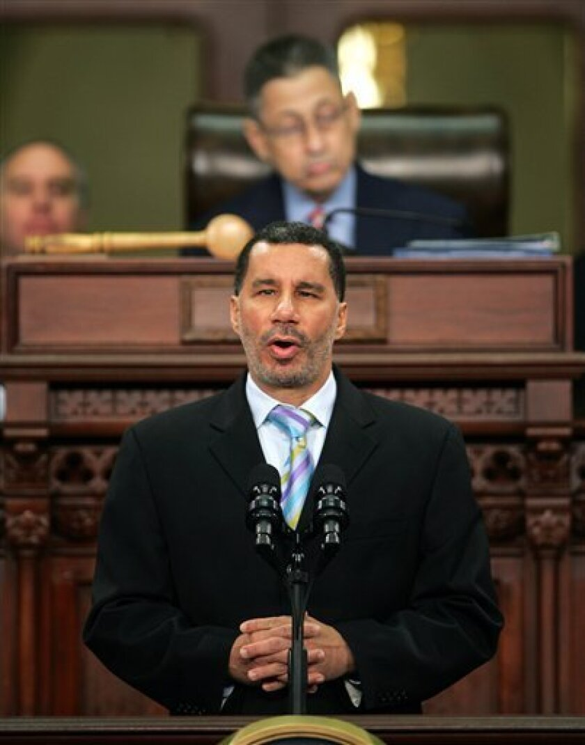 In this  Wednesday, Jan. 7, 2009 photo, New York Gov. David Paterson delivers his State of the State address at the Capitol in Albany, N.Y. Gov. Paterson insisted Monday, Jan. 19, 2009 he still hasn't decided whom he will appoint to the Senate seat expected to soon be vacated by Hillary Rodham Cli