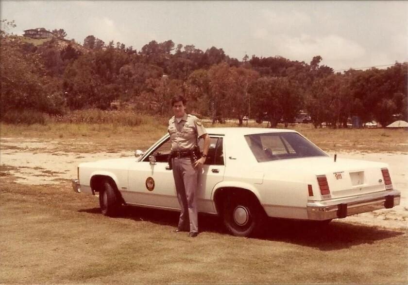 Rancho Santa Fe Patrol Chief Matt Wellhouser on the job in 1980.