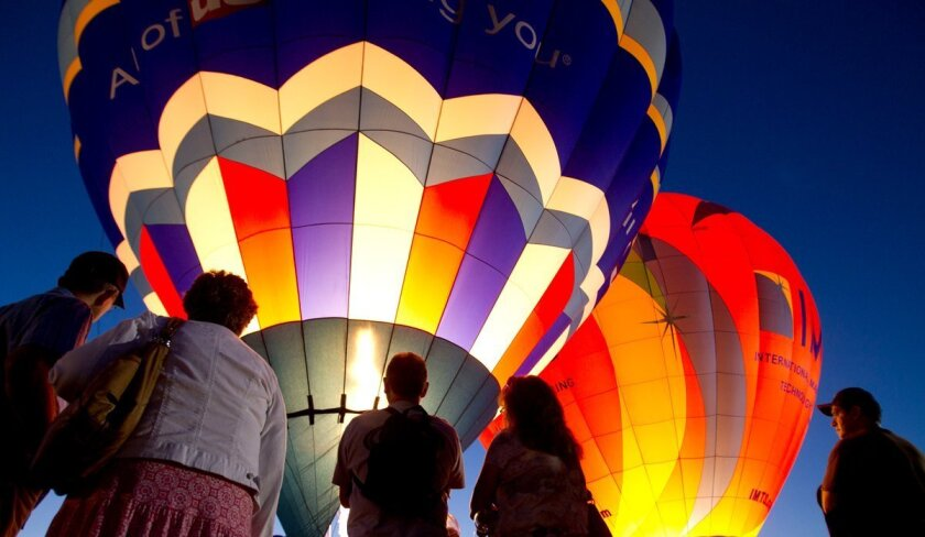 The Temecula Valley Balloon and Wine Festival opens Friday and will feature the Balloon Glow.