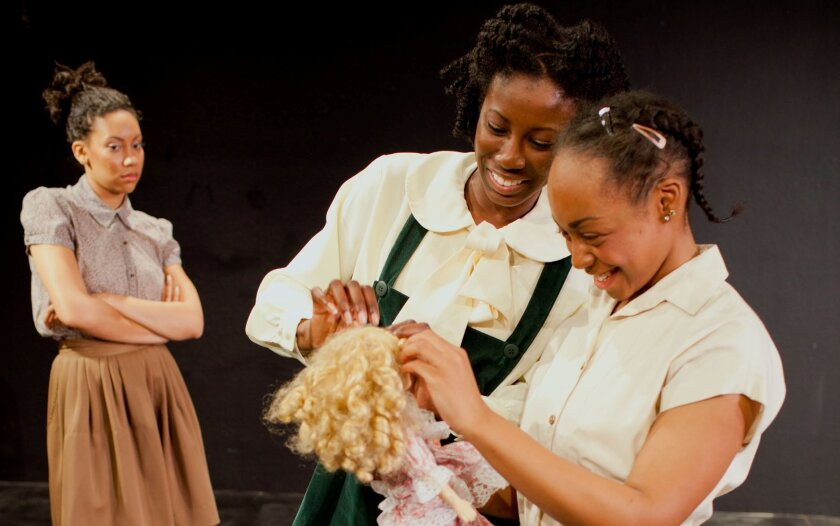 "Lorene Chesley, Marshel Adams and Cashae Monya (left to right) in ""The Bluest Eye."""
