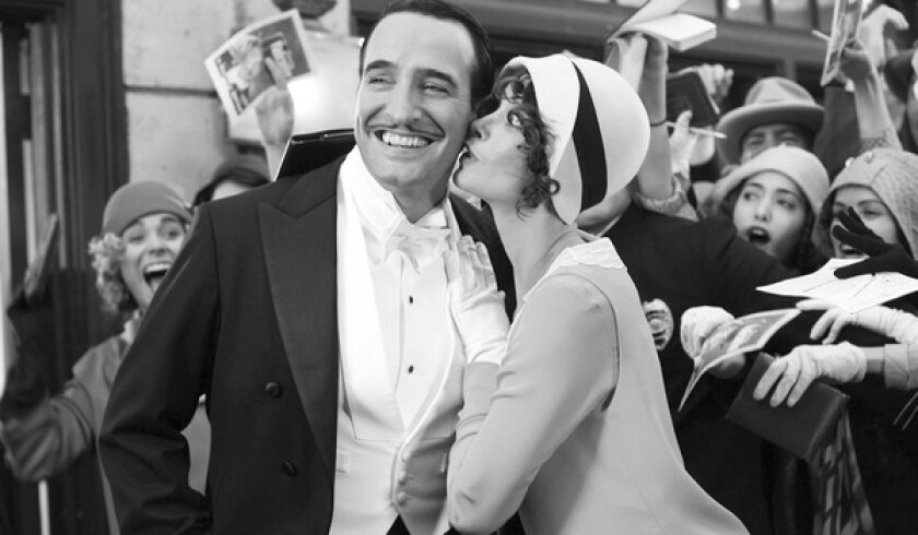 "Jean Dujardin, left, and Berenice Bejo in ""The Artist."""