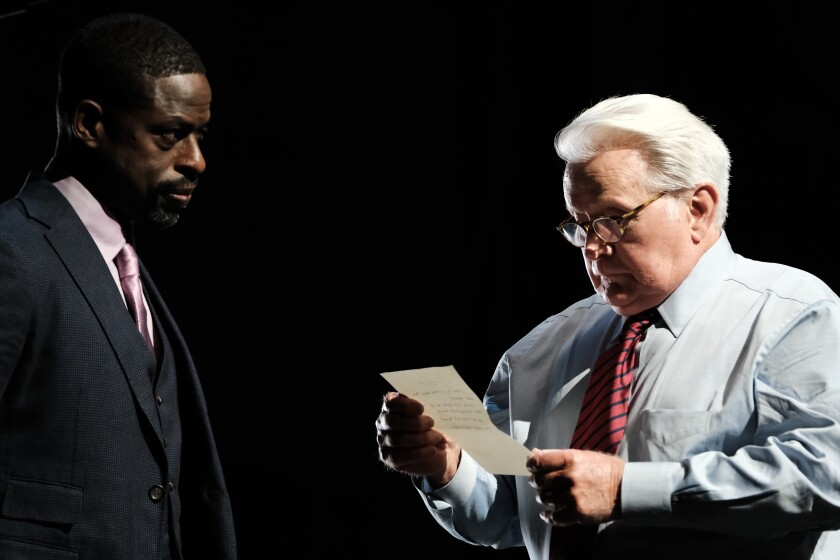 "Sterling K. Brown and Martin Sheen in ""A West Wing Special to Benefit When We All Vote."""
