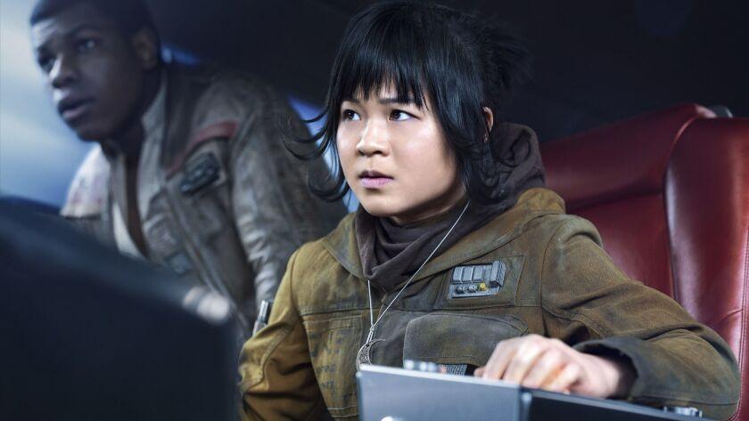 """Kelly Marie Tran as Rose in """"Star Wars: The Last Jedi."""""""