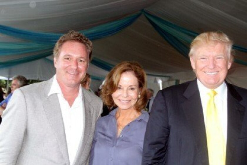 Mark Bellissimo, Robin Parsky and Donald Trump Photo by Kenneth Kraus