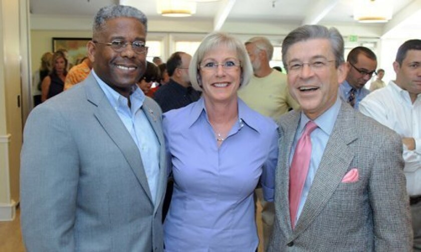 Congressman Allen West with Donna and Ray Vance