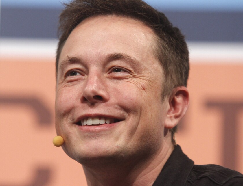 Portrait of Elon Musk smiling