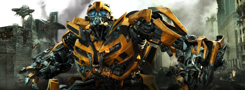 """Bumblebee in a scene from the film """"Transformers: Dark of the Moon."""""""
