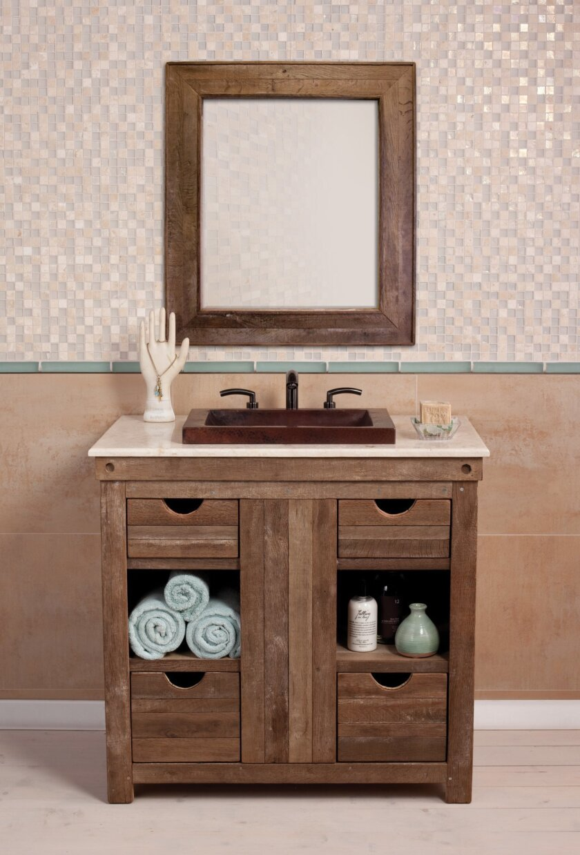 Native Trails' Vintner Series for cabinetry and mirrors.