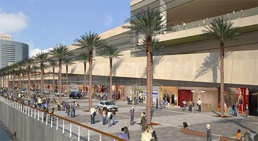 The planned expansion of the San Diego Convention Center will include public spaces, including a waterfront promenade