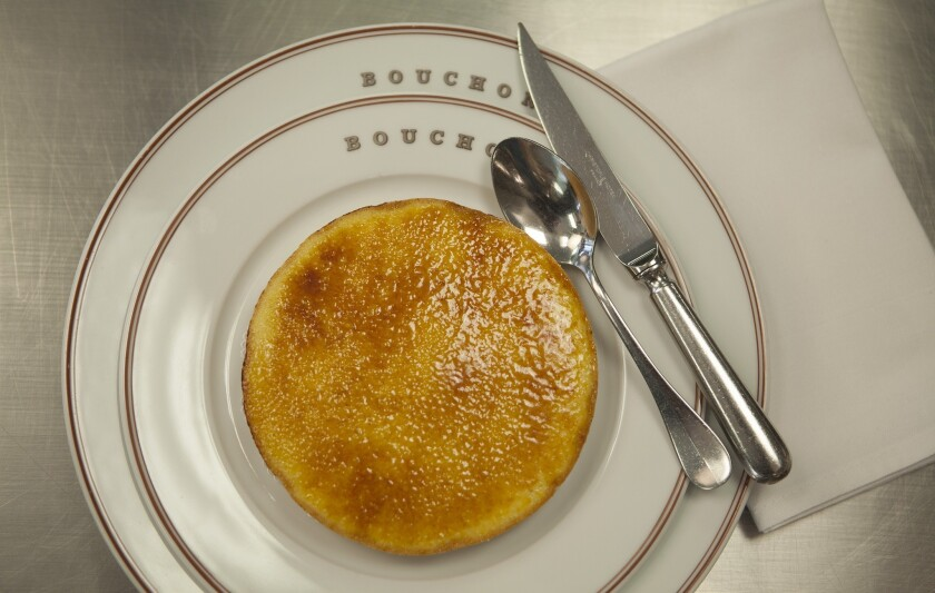 Alen Ramos, Pastry Chef at Bouchon Beverly Hills, created this pomme d'amour, a custard tart. Recipe.