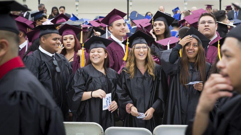 MONTEREY PARK, CALIF. -- WEDNESDAY, JUNE 7, 2017: Students of 45 LA Unified School District Educati