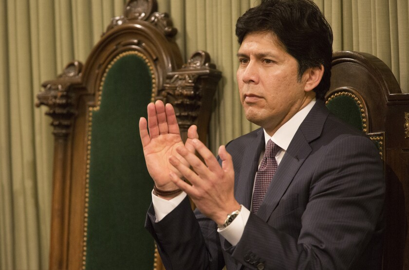 Senate President Kevin de Leon, above, joined Assembly Speaker Anthony Rendon in raising concerns about expanding the state electric grid to include PacifiCorp, one of the nation's largest users of coal-fired power plants.