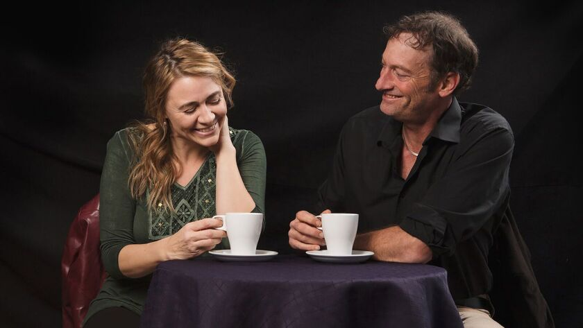 Deanne Bray and Troy Kotsur costar in the 2018 production Arrival & Departure at the Fountain Theatr