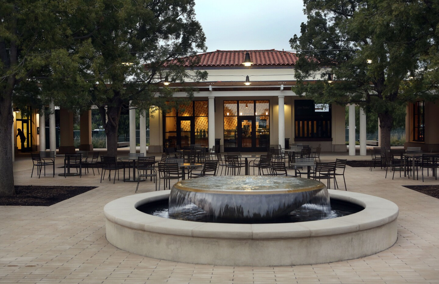 A look at the exterior of the Coffee Shop located inside the new Steven S. Koblik Education and Visitor Center at the Huntington Library in San Marino.