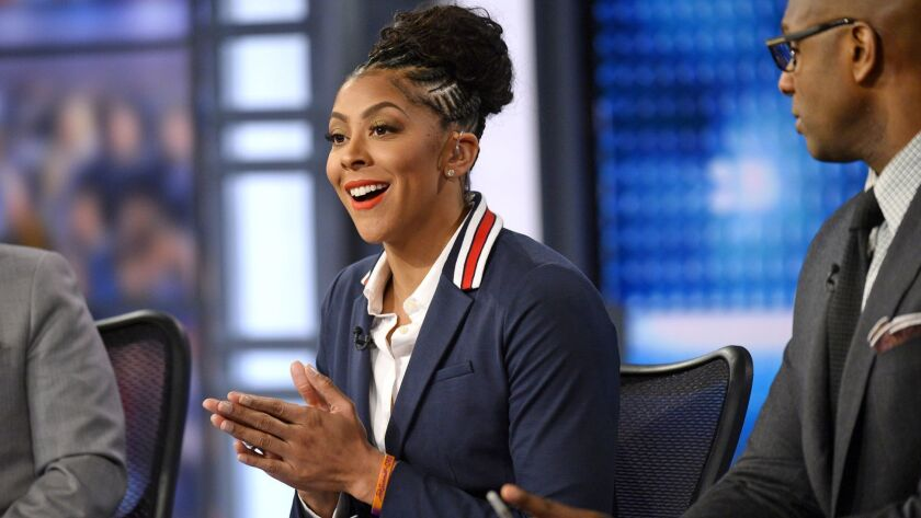 Column: Candace Parker's transition to the broadcast booth has been a blur - Los Angeles Times