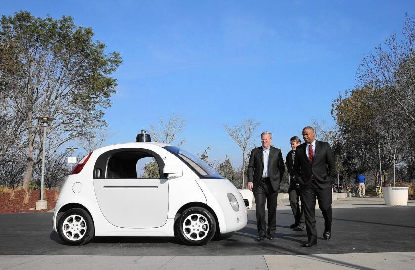 Transportation Secretary Anthony Foxx with Google CEO