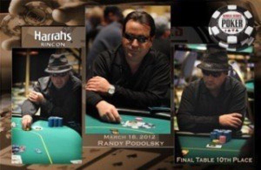 Randy Podolsky at the World Series of Poker's Harrah's Rincon St. Patrick's Day Tournament.