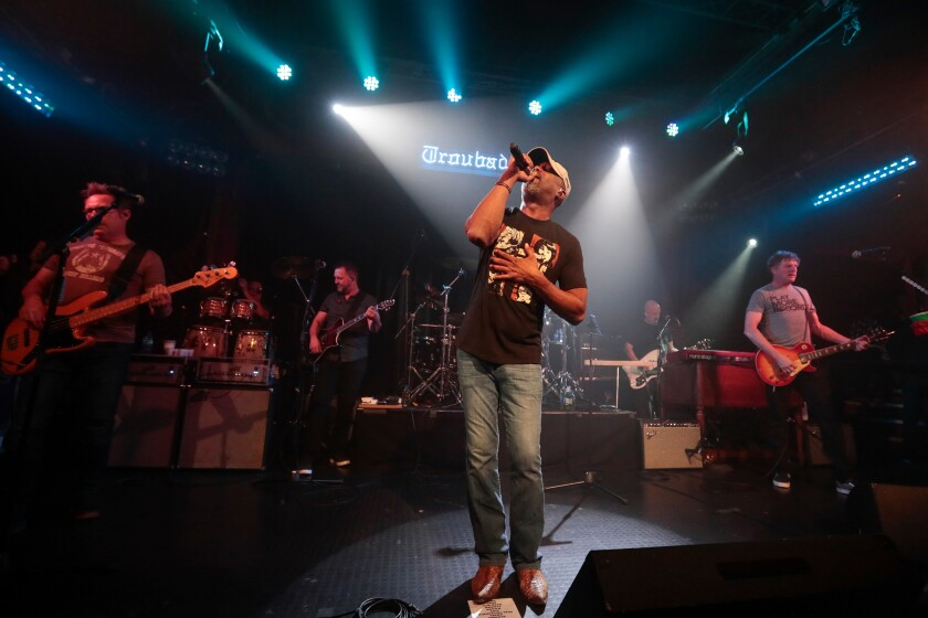 Darius Rucker leads Hootie & the Blowfish at the Troubadour on Monday night.