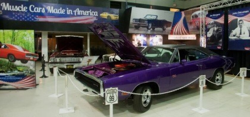 Muscle cars at the San Diego Automotive Museum