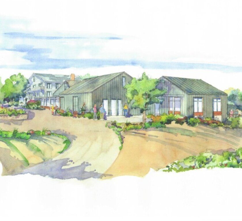 A rendering of Cal Coast Academy, a school planned next to Clews Horse Ranch on the CVREP trail.