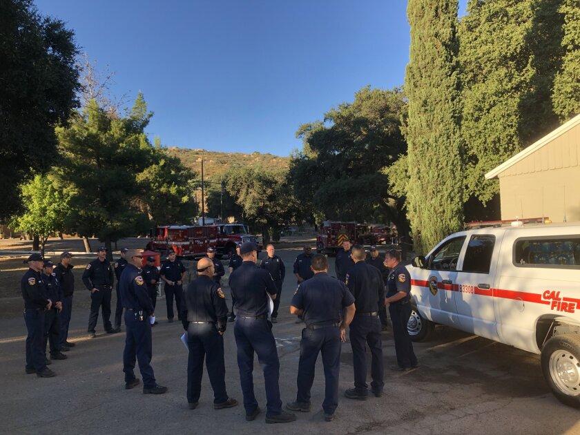 Cal Fire officials