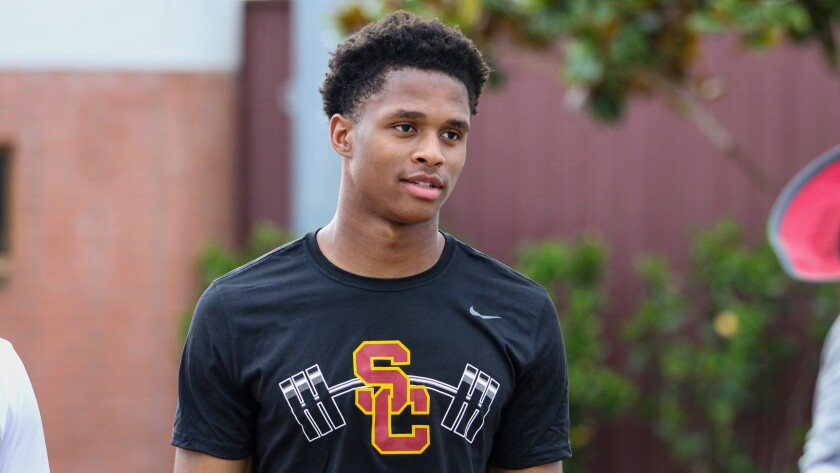 USC wide receiver Munir McClain has been suspended by the team.