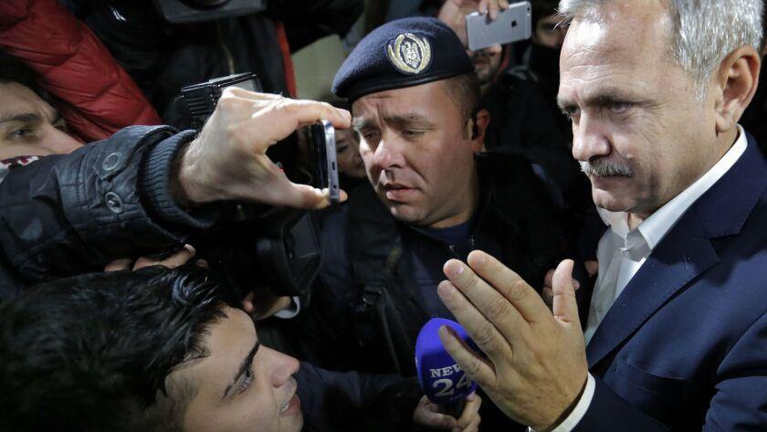 Top Romanian politician Liviu Dragnea investigated for tax evasion, Bucharest, Romania - 21 Nov 2017