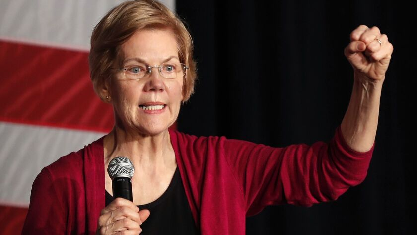 Sen. Elizabeth Warren announced her bid for the White House at a rally in Lawrence, Mass., on Saturday.