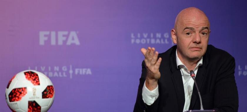 En la imagen, el presidente de la FIFA, Gianni Infantino. EFE/Archivo